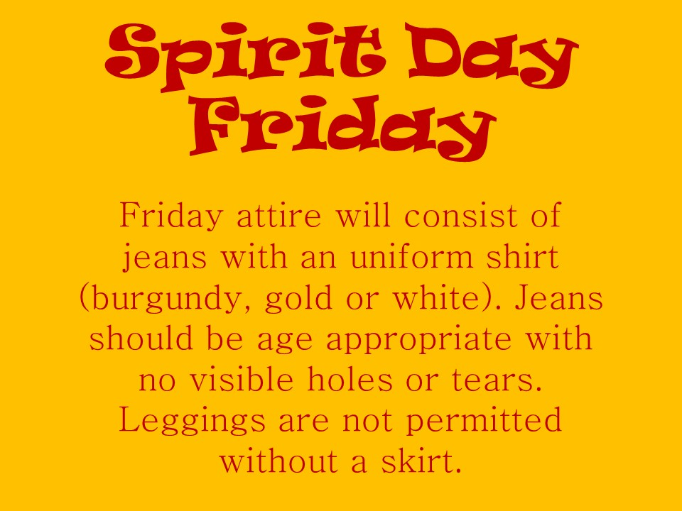 Spirit Day Friday