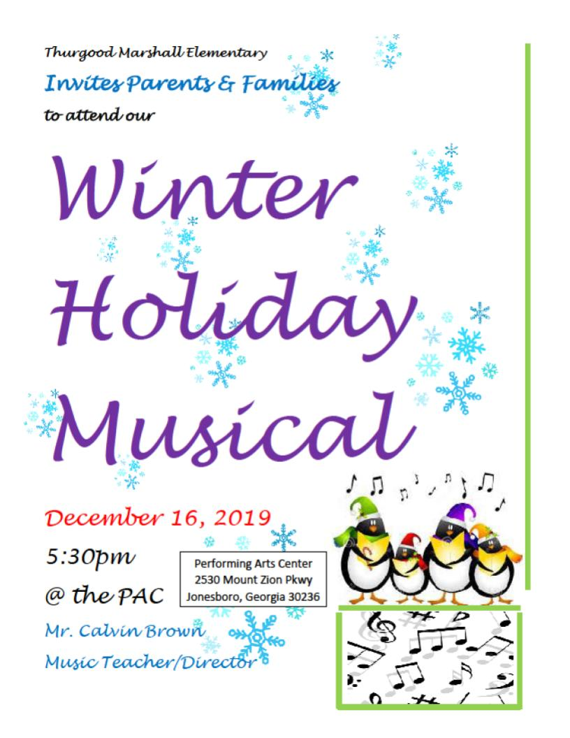 Winter Holiday Musical Flyer